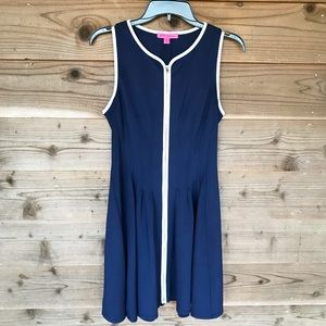 Betsey Johnson Full Zip Fit and Flare Tank Dress